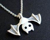 Bat Necklace Bat Jewelry Vampire Jewelry Goth by zoozjewelry