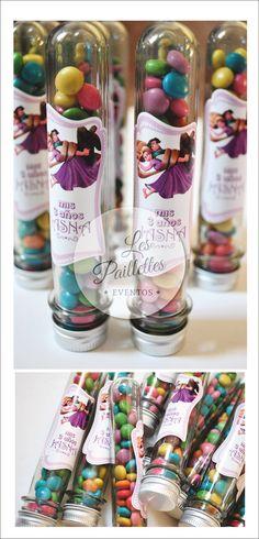 Tubos Golosineros Personalizados. Temática: Rapunzel. #tubosgolosineros #personalizados #sorpresita #cumpleaños #party #golosinas #pastillas #colors #birthday #ideas