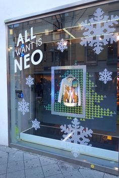 TRC Christmas window for adidas NEO 2013