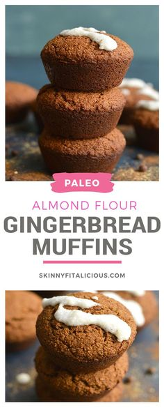 Almond Flour Gingerbread Muffins {Paleo, Gluten Free} - Skinny Fitalicious