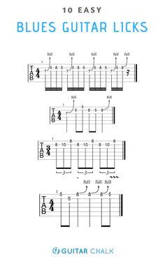 10 Easy Blues Guitar Licks for Beginners Blues Guitar Chords, Blues Guitar Lessons, Guitar Chords Beginner, Online Guitar Lessons, Guitar Chords For Songs, Guitar Chord Chart, Guitar Lessons For Beginners, Guitar Sheet Music, Guitar Solo
