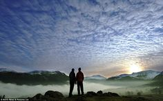 Standing in the heavens: As fog descends into the Ullswater valley, in the Lake District, the scene is reminiscent of a frozen glacier, surrounded by snow-capped fells and mountains Lake District, Uk Weather, English Countryside, Cumbria, Great Britain, Beautiful Places, England, Clouds, Landscape