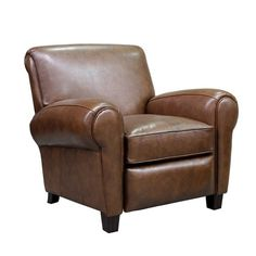 Mistakes Guys Make When Decorating To Impress Women | Laurel Home - Wonderful classic early 20th century-style leather club chair. oh, and it's a recliner too!