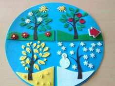 Season craft ideas Winter craft ideas for preschoolers Spring craft ideas for kids Summer craft idea for children Autumn craft ideas for preschool Four seasons craft and activities for kids Seasons themed wall decorations for school Diy And Crafts, Crafts For Kids, Arts And Crafts, Paper Crafts, School Decorations, Spring Crafts, School Projects, Four Seasons, Classroom Decor
