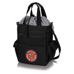 Picnic Time 20 Can NCAA Activo Tote Picnic Cooler NCAA Team: University Of Louisiana - Lafayette Ragin Cajuns, Color: Black