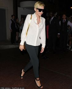 Put together: Miley's outfit was classic and stylish too