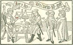 Folz, Hans: Wem der geprennt wein schad oder nucz sei, vnd wie er gerecht oder felschlich gemacht sei [Nürnberg], [ca. 1491] Ink F-174 Folio NP