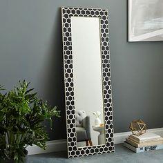 Bone Inlay Floor Mirror - Black #westelm