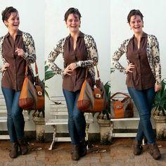 LEILA DINIZ *blog: CARDIGAN é vida no look, somado a camisa xadrez te...