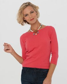 Boat Neck Cashmere Sweater | A Summer Cashmere Top
