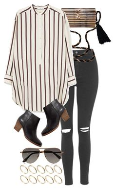 """""""Untitled #8576"""" by nikka-phillips ❤ liked on Polyvore featuring Topshop, Yves Saint Laurent, Tom Ford, ASOS, MANGO and Madewell"""
