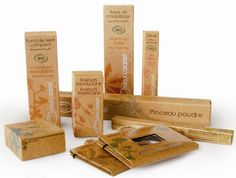 assorted cosmetic packaging