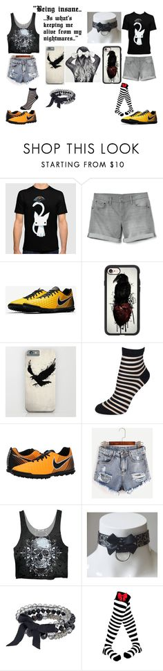 """""""School"""" by xartemisu ❤ liked on Polyvore featuring Gap, NIKE, Casetify, Kate Spade and Simply Vera"""