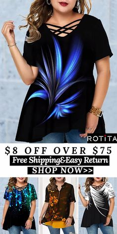 USD 8.00 off over USD 75.00 USD 15.00 off over USD 125.00USD 30.00 off over USD 205.00End: 08/19 Code:PARTY2019FREE SHIPPING WORLDWIDE! !Rotita women summer outfits cozy tshirts blouses tops #Rotita #womenfashion #tshirt#summertops#top#blouse#tops #plussize#plusfashion#plusoutfits Plus Size Camisoles, Plus Size Tops, Curvy Outfits, Plus Size Outfits, Long Black Blazer, Summer Outfits Women, Blouse Styles, Women's Summer Fashion, Plus Size Fashion
