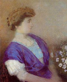 """""""Portrait of the Marquis de Gonet"""" by Odilon Redon (France, 1907)"""