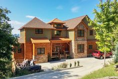 This Rustic Mountain Home Plan Has A Second Floor Bridge That Connects The  Two Bedrooms And