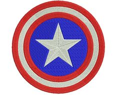 "Captain America embroidery designs. Captain America Logo. Formats: CSD, DST, EXP, HUS, JEF, PES, SHV, VIP, XXX, VP3,   Sizes: 2.95x2.95"", 3.89x3.89"", 4.64""x4.64""  Price 2.50$   Contacts:  provokator04@rambler.ru"