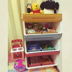 ジャストフィット‼/おもちゃ収納/スクエアボックス/フロック/ダイソー…などのインテリア実例 - 2015-11-16 23:32:51 | RoomClip(ルームクリップ)