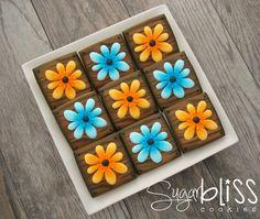 SugarBliss Cookies: SugarBliss Rustic Wildflowers