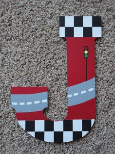 Hand Painted Wooden Letters Cars and NASCAR Large by WallApproved
