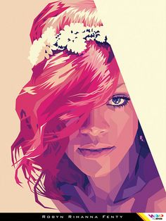 RIHANNA in WPAP (Wedha's Pop Art Portrait)