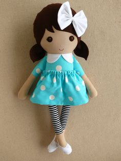 Reserved for Fadia  Fabric Doll Rag Doll Brown by rovingovine, $38.00