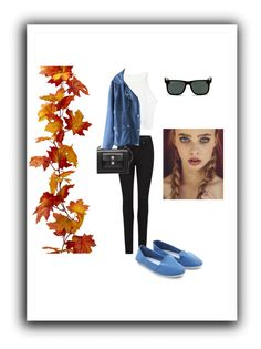 """""""Fall is Classy"""" by taylormarykaeyelizabeth ❤ liked on Polyvore featuring Paige Denim, Balenciaga and Ray-Ban"""
