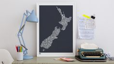 British Isles Type Map decorative screen print by boldandnoble, Word Map, Recycling Process, Italy Map, London Map, Decorative Screens, Bold And The Beautiful, Free Gift Cards, Modern Retro, Artwork Design