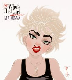 Madonna: Who's That Girl reimagined by Combo Estudio Disney style