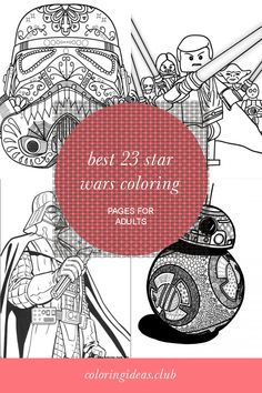 The best collection of articles about Best 23 Star Wars Coloring Pages for Adults. Get this Luxury and SHARE this article right now! Lego Coloring Pages, Detailed Coloring Pages, Fairy Coloring Pages, Free Printable Coloring Pages, Adult Coloring Pages, Coloring Books, Star Citizen, Punched Tin Patterns, Star Wars Colors