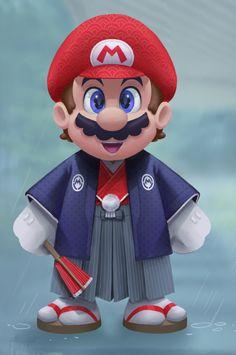 Mario in Japanesse (Super Mario Bros.)