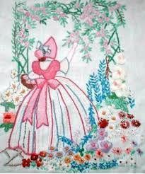 crinoline lady embroidery -