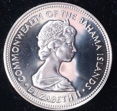 North & Central America 25 Cents Queen Elizabeth Ii 1966 Bahamas 57h Central America