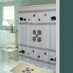 Bear's Paw Cotton Shower Curtain