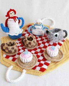 Red Riding Hood Tea Set Crochet Pattern  PDF by Maggiescrochet