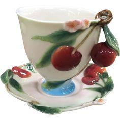 C1880 Generous Rare And Superb A Klingenberg Ak Limoges Red & Cream Open Sugar Bowl