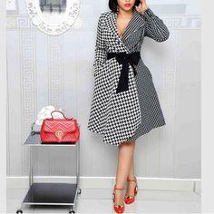 Plaid Plus Size Suit Collar Dress – colintime Source by Colintime Dresses plus size Plus Size Dress Outfits, Large Size Dresses, Casual Dresses, African Fashion Dresses, African Dress, Xl Fashion, Plus Size Fashion, Steampunk Fashion, Gothic Fashion