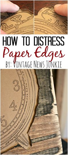 Easy Tutorial for Distressing Paper Edges