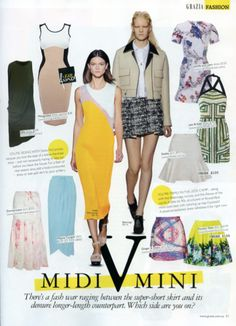 Photosynthesis Skirt as seen in Grazia Mag