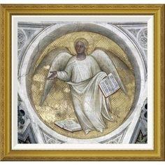 Global Gallery 'Saint Matthew, Evangelist - Angel' by Giusto de Menabuoi Framed Painting Print Size: