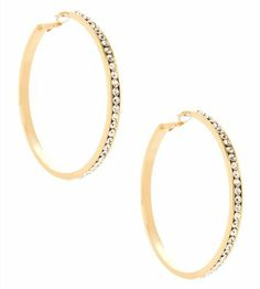 G by GUESS Large Gold Rhinestone Hoop Earrings, GOLD G by GUESS. $16.50. diamond hoops. channel set. gold hoops. rhinestone hoops. holiday
