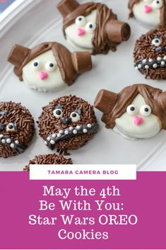 These Decorated Star Wars OREO Cookies are SUCH fun and… May the Be With You! These Decorated Star Wars OREO Cookies are SUCH fun and are easy to make for May the or for your upcoming Star Wars party/event Chocolate Sprinkles, Melting Chocolate, Dipping Chocolate, Chocolate Covered, Easter Cookies, Oreo Cookies, Candy Wafers, Easter Biscuits, Star Wars Cookies