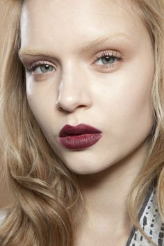 burg lips, bleached brows