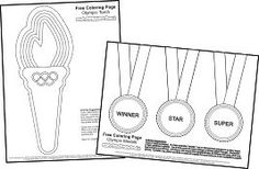 Olympics Coloring Pages and link to coloring pages for 50 flags