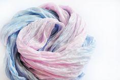 Silk Scarf, Hand Dyed silk Scarf, Hand painted silk scarf, serenity rose quartz silk scarf, gift for here, Scarf Handpainted  Hand dyed mix rose
