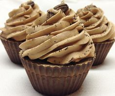 Hazelnut Vanilla Coffee Latte Cupcake Soap -  Cold Process Soap with Cocoa and Shea Butters