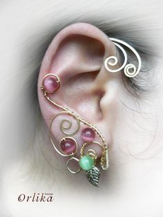 Wire+wrapped+Punk+Ear+Wrap+Earring+by+Orlika+on+Etsy