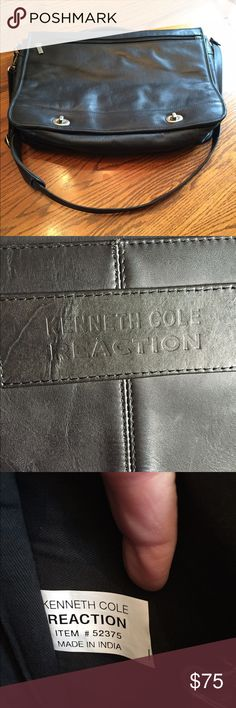 Kenneth Cole all Leather Bag Gently used bag / soft brief case. Smoke free, pet free, clean home. It was purchased at Macy's for approximately $350. It was carried one semester as a book bag. Excellent condition. Kenneth Cole Reaction Bags Satchels