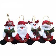 Merry Christmas 4pcs/lot Red Santa Pendant