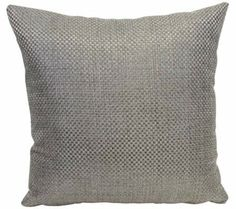 "Basketweave Pebble 18"" Square Throw Pillow 